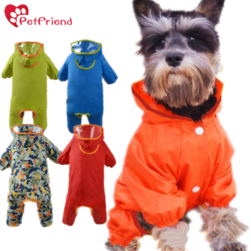 Dog Raincoat with Button Small Median Dogs Waterproof Coat Rainy Day Walk Apparel Camouflage Outdoor Climbing Clothing