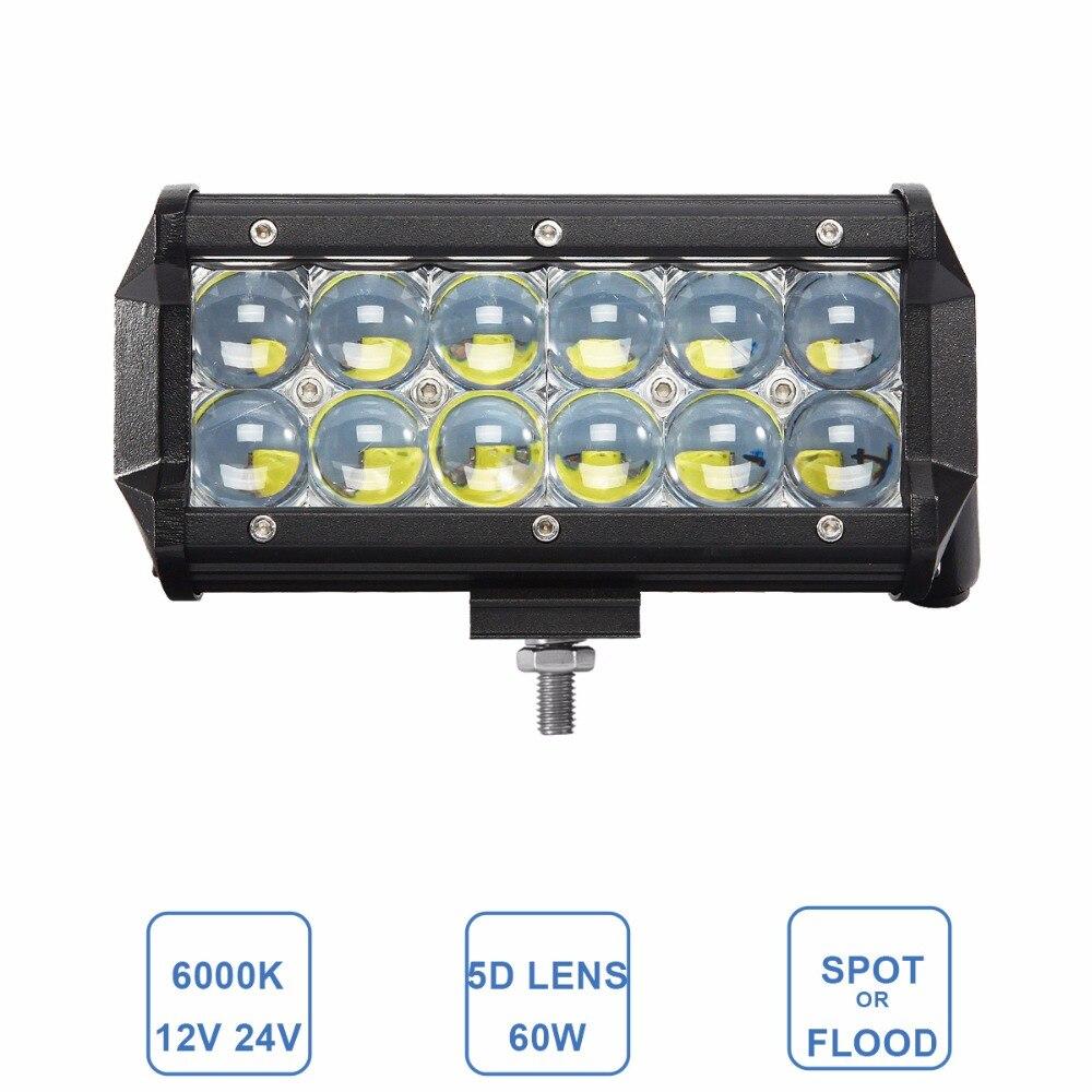 60 watt Offroad LED Work Licht Bar Auto Lkw SUV Boot AWD Trailer Traktor Wagon Pickup 4X4 Motorrad scheinwerfer 6,5 inch Nebel Lampe