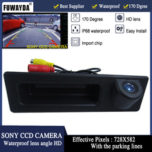 FUWAYDA Night Vision 170'' Wide view Angle waterproof HD HandleSONY CCD Car RearView Reverse Camera for BMW F10 F11 F25 F30 BMW5