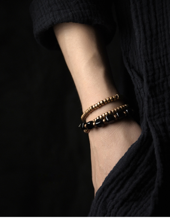 2019-New-Cubic-Black-Obsidian-Multi-row-Bracelet-With-Antique-Finish-Copper-Accessories-Men-Women-Couple-Jewelry-Punk-Street (6)