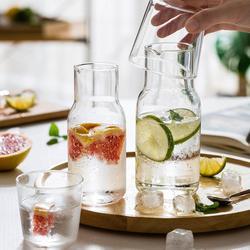 Mdzf água carafe com copo copo copo copo de garrafa de água quente fria conjuntos de garrafa de água de cabeceira jarro de alta temperatura garrafa de resistência