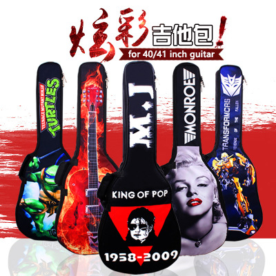 Waterproof 16mm Thicken 40 41 Electric Guitar Bass Folk Flattop Acoustic Bag Case Backpack Guitarra Bass Accessories Carry Gig zebra cool skull electric guitar belt polyester acoustic folk guitar classic guitar strap for electric acoustic guitar bass