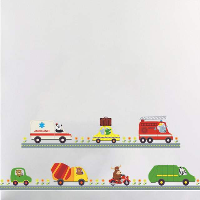 Cars Muurstickers Kinderkamer.Cartoon Cars Kind Kamer Muurstickers Voor Kinderkamer Jongen Slaapkamer Muurstickers Window Poster Auto Muursticker Behang Plint