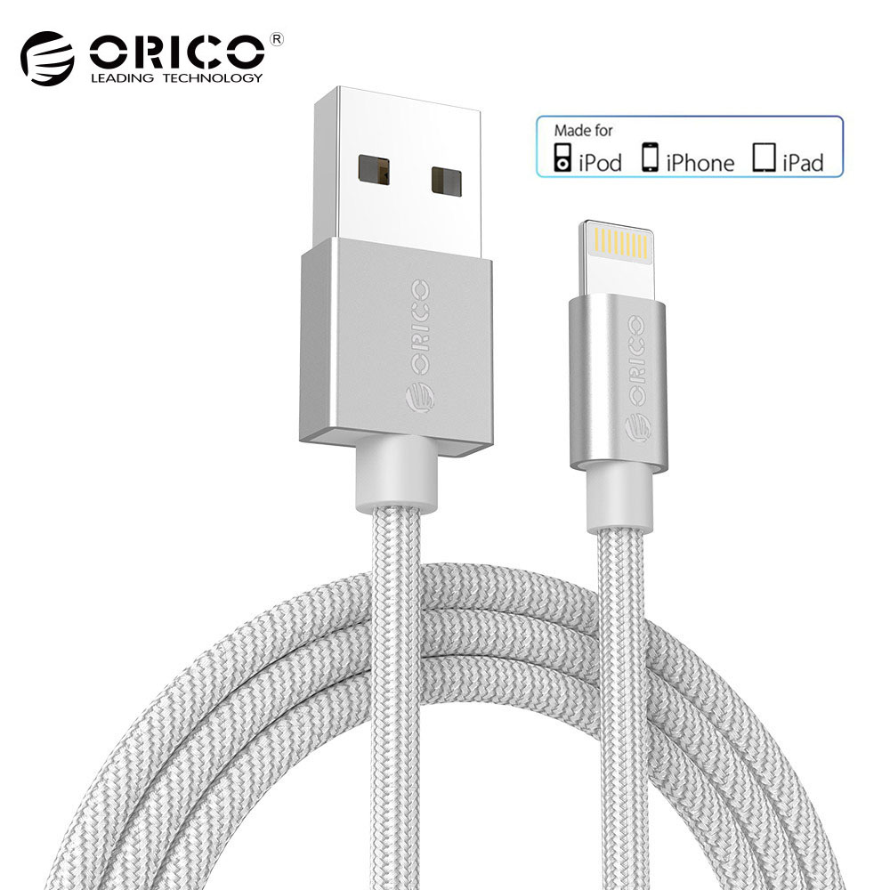 ORICO USB Cable for Apple iPhone iPad 2.4A MFi for Lightning to USB Cable Fast Charger Data Cable for iPhone 5 6 7 8