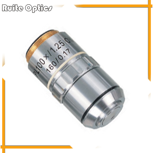 цена на PL100X 195 Plan Achromatic High-grade Microscope Objective Lens 100x for Biological Metallurgical Microscopy