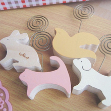 1 Pics Wood Memo Pincer Clips Paper Photo Clip Holder Wooden Small Clamps Stand Peg pics