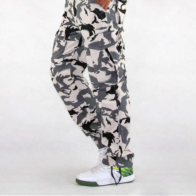 Kargo Pantolon Askeri Kamuflaj Taktik Pantolon Safari Tarzı günlük pantolon Erkek Savaş Trekking Pantolon Iş Pantolon Tulum
