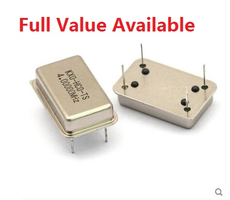 5PCS Rectangle Active Crystal Oscillator DIP-4PIN 4MHZ/8MHZ/10MHZ/11.0592MHZ/12MHZ/16MHZ/20MHZ/22.184MHZ/24MHZ/40MHZ/50Mhz/M