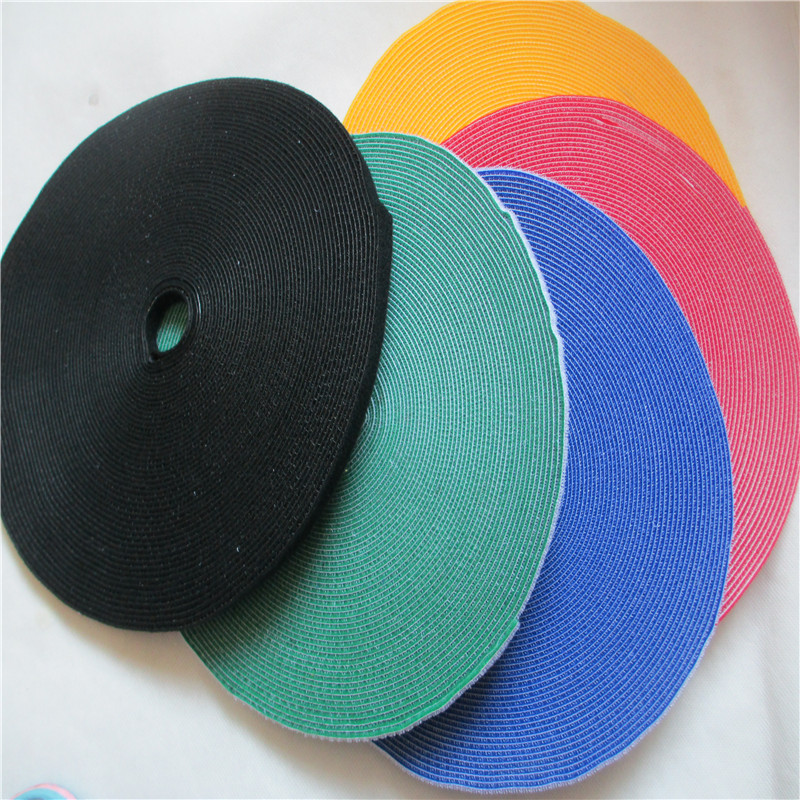 25M*1cm Nylon Cable Ties Straps Roll Wraps Hook Loop Fastener For Laptop Computer TV Wire Cord Management Organizer magic tape diversity management triple loop learning