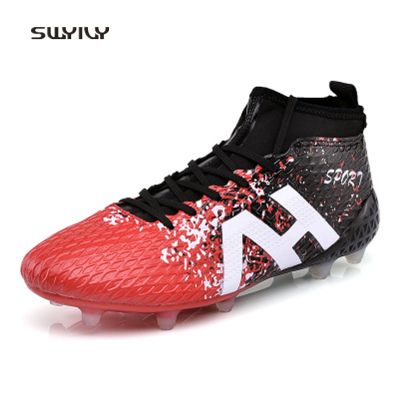 SWYIVY Hommes Football Chaussures Un Chaussettes Chaussures Non-slip Football Chaussures 2018 Long Épi Dentelle-up Doux Stable hommes Chaussures De Football