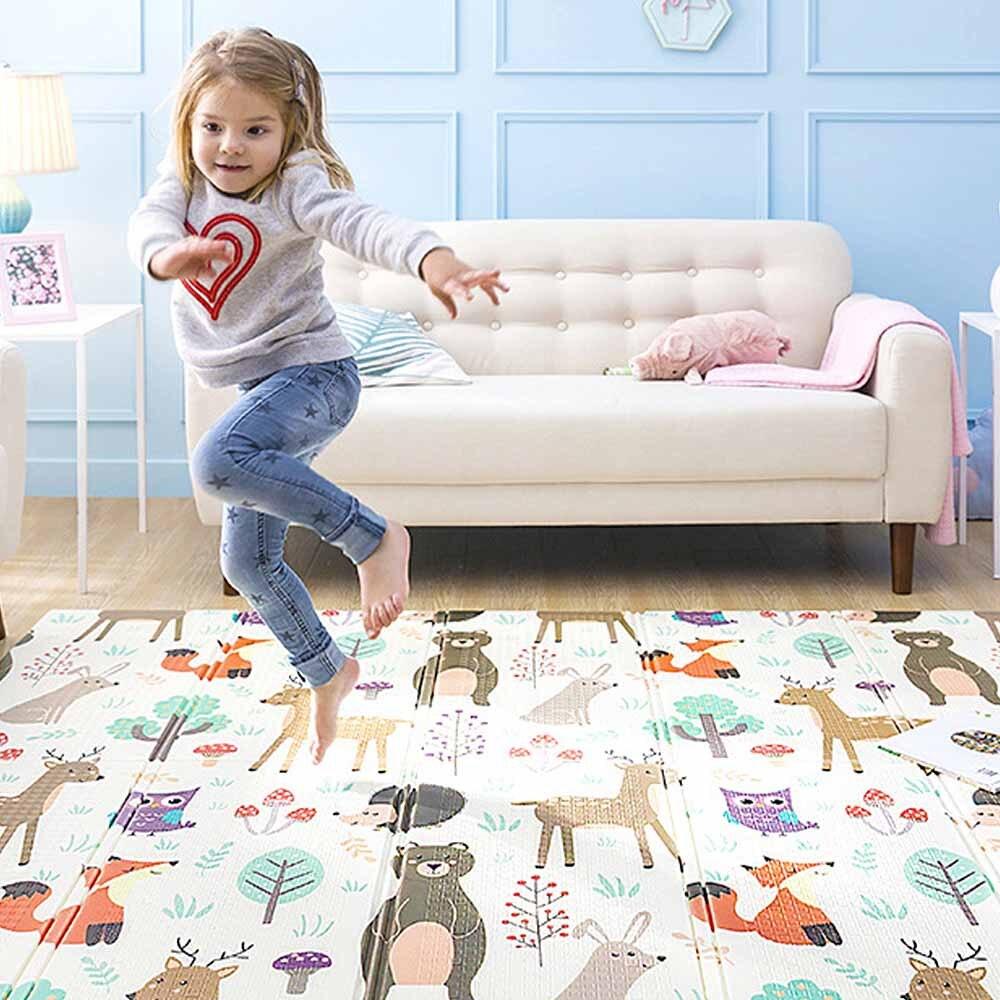 Tapis de jeu pour bébé Puzzle tapis de bébé mousse épaissi tapis de jeu salle ramper tapis pliant tapis de bébé tapis de sol antidérapant 150*200*1CM - 2