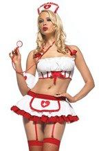 Women's Sexy Nurse Halloween Fancy Dress Sexy lingerie party costume 1436
