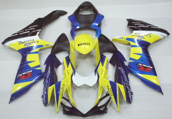 Yellow Blue For Suzuki GSXR600 2011 2012 GSXR750 2011 2012 GSX R600 GSXR750 11 12 K11 Injection Fairing Set Plastic Kit 11