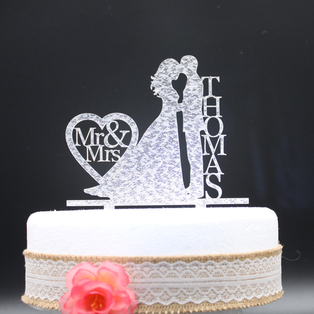 personalised silver wedding cake toppers aliexpress buy personalized wedding cake topper 18223