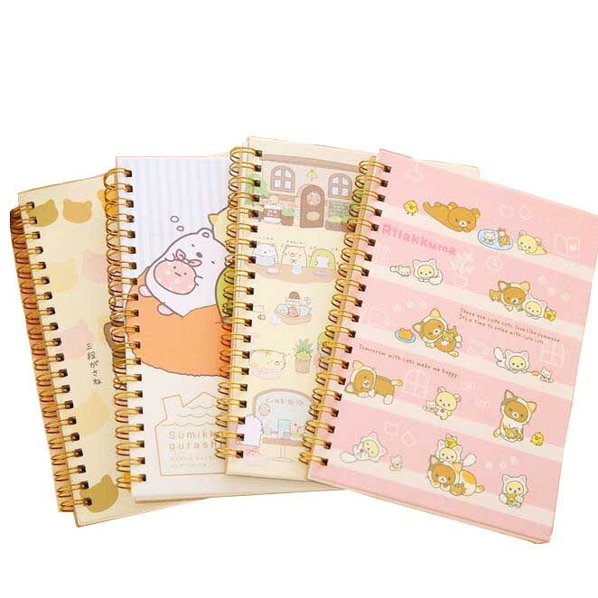 1pcs/lot New Kawaii Cartoon Korea Rilakkuma & Sumikkogurashi Coil Notepad Daily Sprial Book Supplies Office School Street Price Notebooks Notebooks & Writing Pads