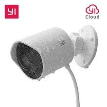 YI наружная камера безопасности облачная камера беспроводной IP 1080 p Разрешение водостойкая система видеонаблюдения ночного видения белый