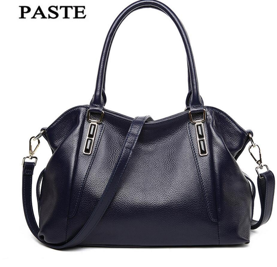 все цены на PASTE New First Layer Leather Sapphire Leather Handbags European American Fashion Shoulder Bag Messenger Bag Leather Handbag