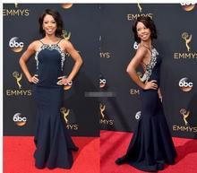 68th Annual Primetime Emmy Engel Parker Roter Teppich Promi Abendkleider Backless Marineblau Lange Abschlussball-partei-kleid