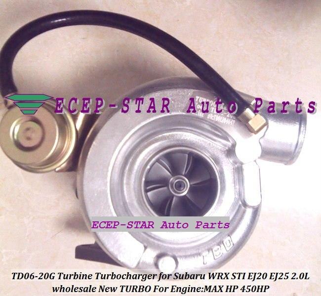 Free Ship TD06 20G TD06-20G Water -c Turbo Turbocharger For SUBARU Impreza WRX STI EJ20 EJ25 2.0L 450HP Gaskets + Pipe Fitting