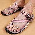 Vietnam sandalias para hombre 2017 nueva raya del dedo del pie masculinos cubren zapatillas hombres casuales sandalias de gladiador sandalias masculina