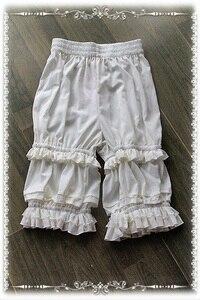 Image 1 - Shorts Lolita classiques blancs, de marque, Bloomers à volants, par Infanta