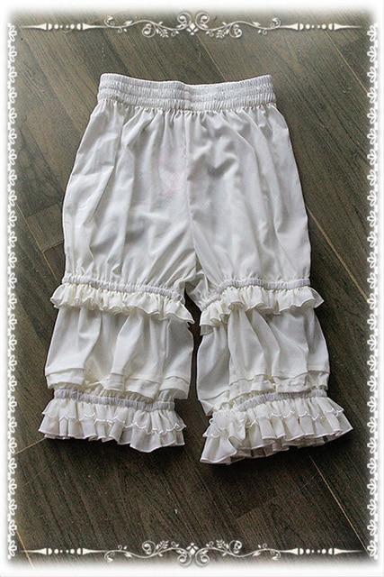 Shorts Lolita classiques blancs, de marque, Bloomers à volants, par Infanta
