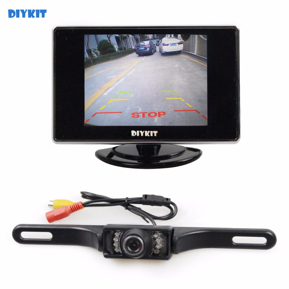 Diykit 35 Inch Car Monitor Van Truck Parking Ir Night Mazda 3 Sp23 Fuse Box Vision Reversing Camera Security System