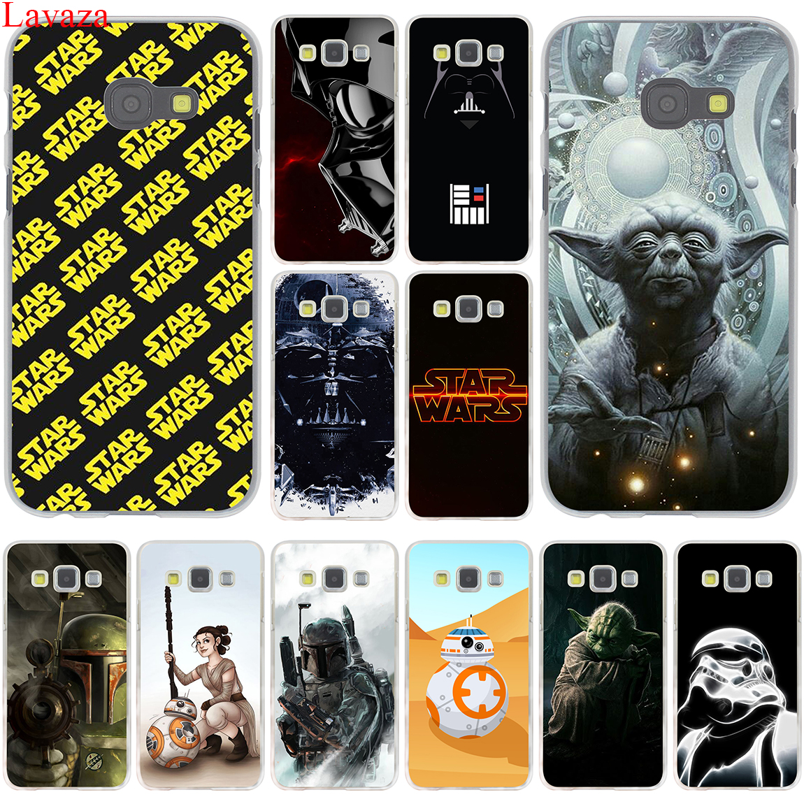 YODA STAR WARS The Force Awakens Hard Case Cover for Samsung Galaxy A3 A5 J3 J5 J7 2015 2016 2017 & Grand Prime Note 2 3 4 5
