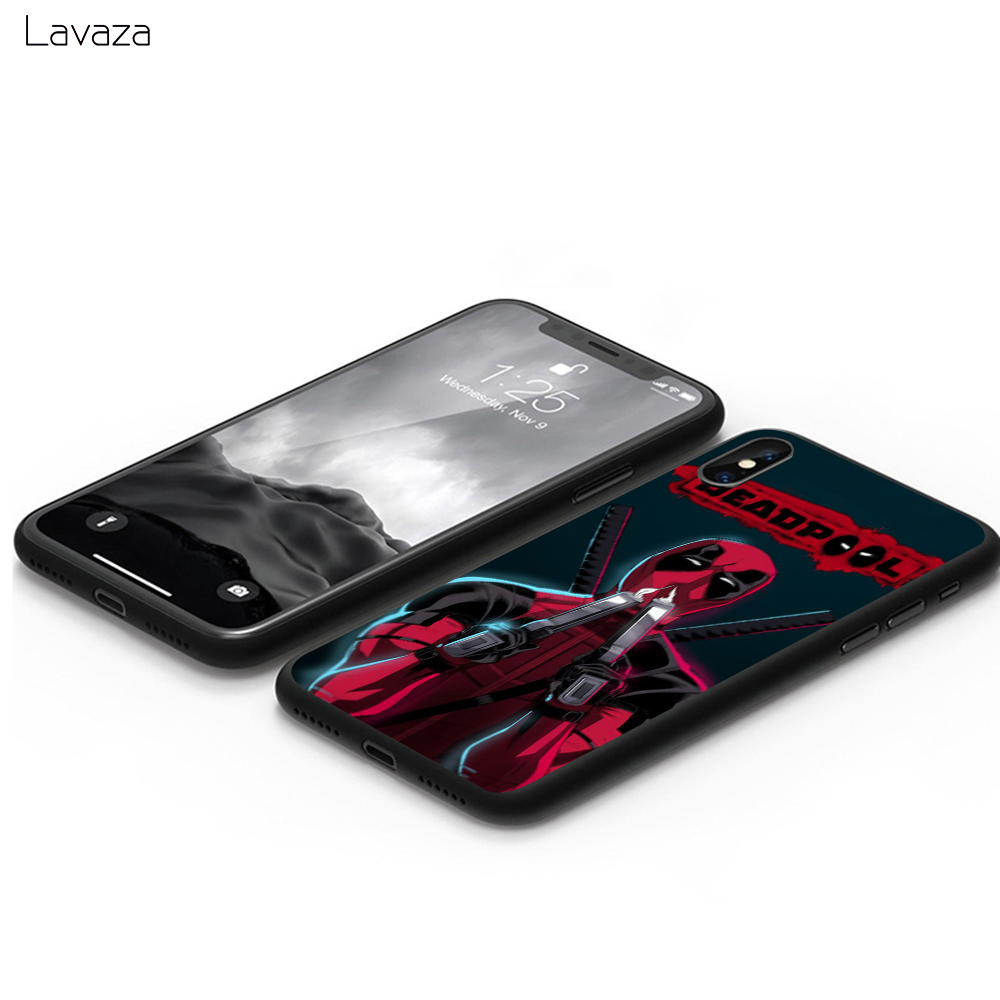 Lavaza Marvel deed pool Deadpool Anime Soft Case for Apple iPhone 6 6S 7 8 Plus 5 5S SE X XS MAX XR TPU Cover in Fitted Cases from Cellphones Telecommunications