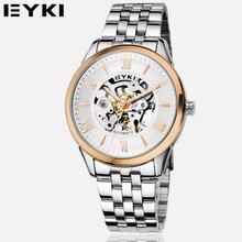 2016 EYKI Moda Reloj Esquelético de Los Hombres de Negocios Reloj Mecánico de Acero Inoxidable Reloj de pulsera de Reloj Horas Relogio masculino EFL8626