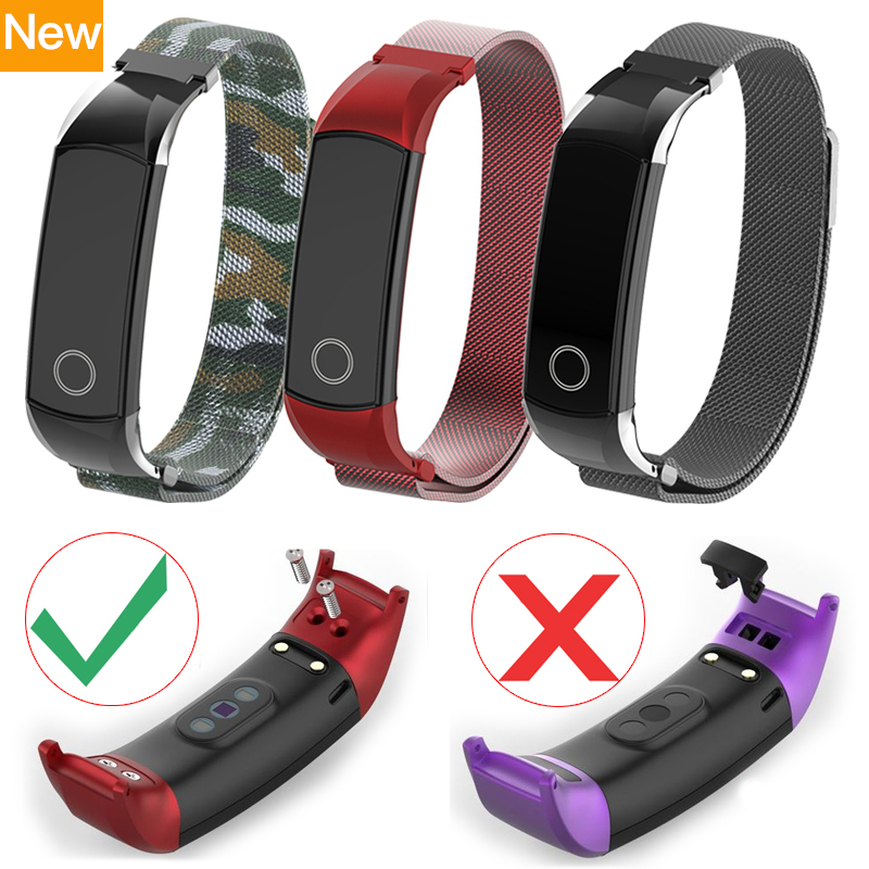 Upgrade Milanese Metal Strap For Huawei Honor Band 4 Strap Stainless Steel Magnetic Wrist Band For Honor Band 4 Accessories