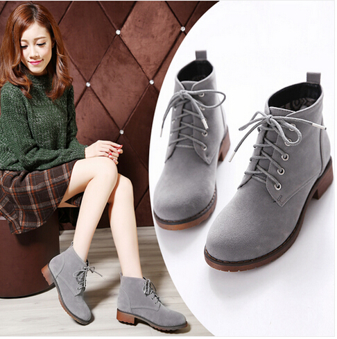 Online Shop 2015 New Fashion Womens Comfort Ankle Boots Womens Low ...