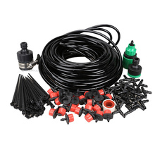 Free ships DIY Micro Drip Irrigation System Plant Automatic Self Watering Garden Hose Kits with Connector 20m