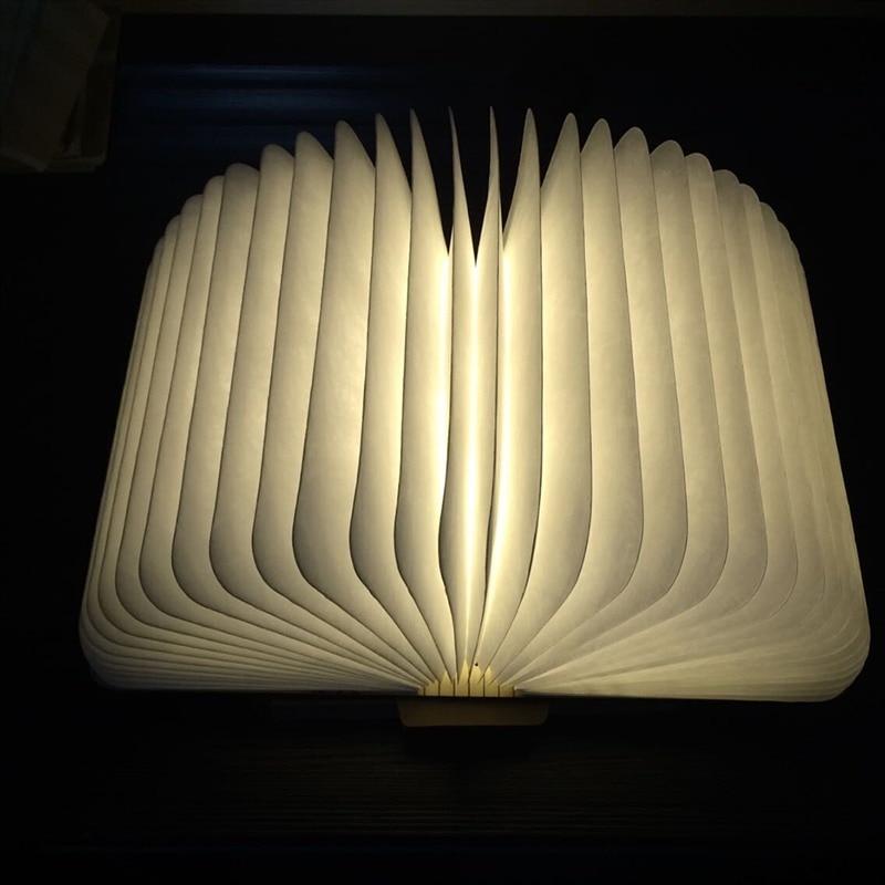 2017 Novelty Wooden Folding LED Night Light Led Lamp Booklight Rechargeable Foldable Nightlight USB Port Good Gift ins hot novelty led rechargeable