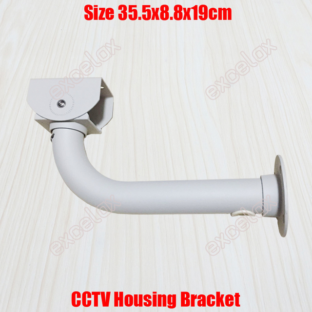 L Type 36cm CCTV Housing Bracket Wall Ceiling Mount Cable Protection Aluminum Alloy Outdoor Stand for Security Camera by Excelax