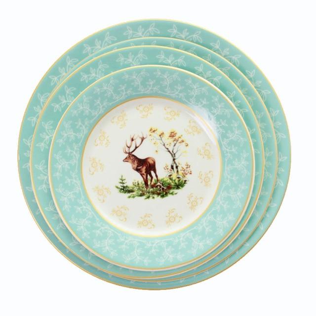 Ceramic Steak Plate Illustration Restaurant Dinnerware Set Porcelain Round Plate Edible Hand-Painted Elk Dinner  sc 1 st  AliExpress.com & Ceramic Steak Plate Illustration Restaurant Dinnerware Set Porcelain ...