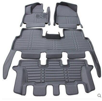 Buona qualità! Tappetini auto speciale per KIA Sorento 7 sedili 2019 impermeabile resistente tappeti per Sorento 2018-2016, trasporto libero