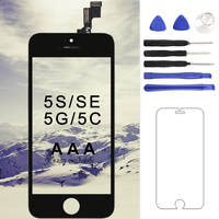 For IPhone 5 5C 5S SE LCD Grade AAA Quality 4 Inch Black White Mobile Phone