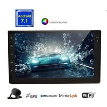 Android 7.1 car Stereo Automotive Radio Video GPS Navigator Head Unit with Octa Core Support Wifi/Mirrorlink/BT/Reversing Camera