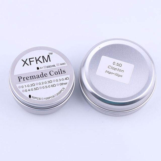 XFKM 50/100 pcs twisted  Fused Hive clapton coils premade wrap Alien Mix twisted Quad Tiger Heating Resistance rda coil 2
