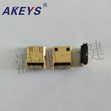 10 PCS HDMI C type head clamp board 1.0 gold-plated socket high-definition joint welded