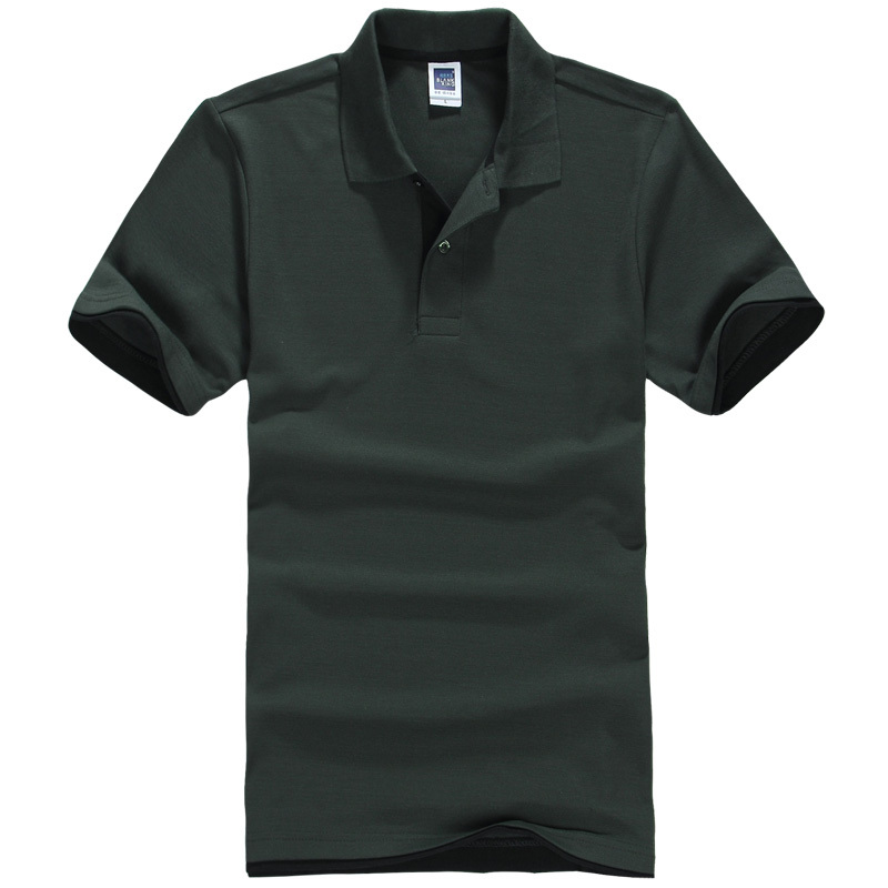 2018 New All Size Casual Polo Shirt Men Solid Polo Shirt Brands Saints Men British Polo Shirts Cotton Short Sleeve Men 18825