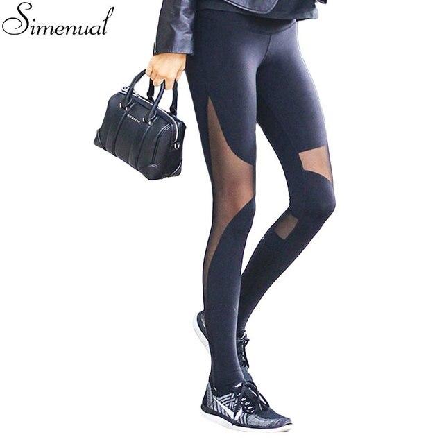 Fitness women step foot leggings jeggings harajuku mesh splice sexy slim legging trousers high waist athleisure leggins pants