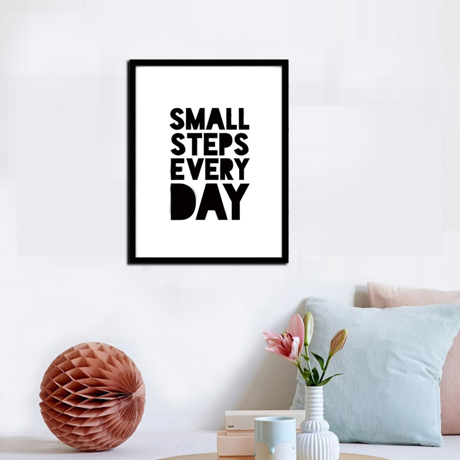 Small Step Every Day Quote Canvas Art Painting Poster Print Wall Picture For Kids Room Study Room Office Home Decor No Frame-in Painting u0026 Calligraphy from ...  sc 1 st  AliExpress.com & Small Step Every Day Quote Canvas Art Painting Poster Print Wall ...