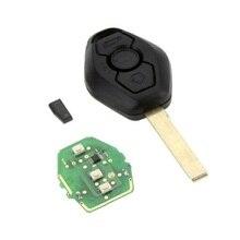 3 Botones 315 MHz Dominante Alejada con la Viruta ID44 para BMW X3 X5 Z4 E46 serie 1 3 5 6 7 Z3 Caso de Alarma de Coche de Entrada Sin Llave Fob ~