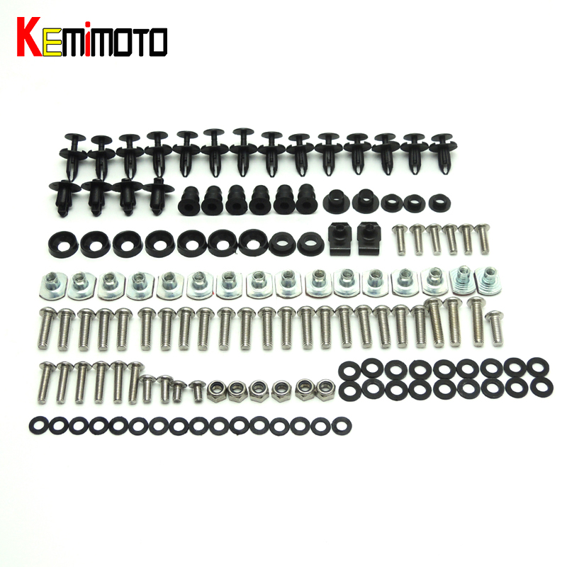 KEMiMOTO YZF R1 Motorcycle Fairing Bolt Screw Fastener Nut Washer For Yamaha YZF R1 2009 -2014 after market motorcycle accessories custom fairing screw bolt windscreen screw for yamaha yzf r1 r6 2005 2006 2007 2008 2009 2010 2011 2012
