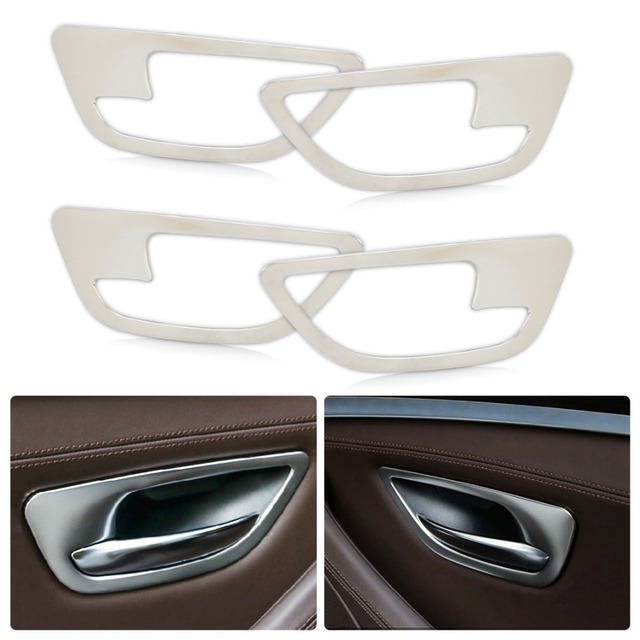 Beler 4pcs chrome interior door handle bowl frame molding cover trim beler 4pcs chrome interior door handle bowl frame molding cover trim for bmw 5 series f10 planetlyrics Image collections