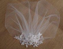 Bianco Da Sposa Birdcage velo, Velo Fard, Fascia per Capelli copricapo Da Sposa In Pizzo fascinator Diamonte Perle