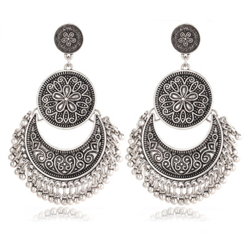 kuniu Vintage tassel earrings for women personalized ethnic trendy style shopping work daily occasion Valentines Day present
