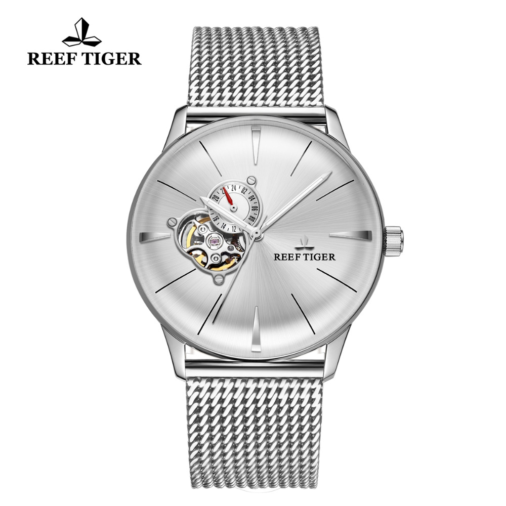 Reef Tiger/RT Designer Mens Dress Watch Stainless Steel Automatic Mechanical Watches Waterproof Bracelet Watch Clock RGA8239Reef Tiger/RT Designer Mens Dress Watch Stainless Steel Automatic Mechanical Watches Waterproof Bracelet Watch Clock RGA8239